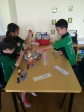 Working together and sharing unit cubes!